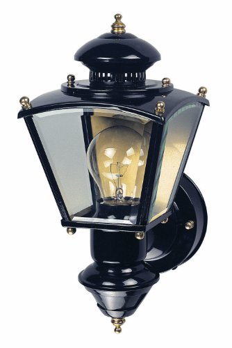 Heath SL-4150-BK-B Zenith Motion-Activated Four-Sided Coach Light, Black Brass