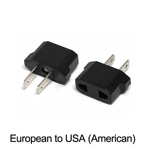 Ckitze Us-12Pk Ckitze European To American Outlet Plug Adapter - 12 Pack