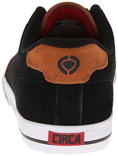 C1RCA Men's AL50 Slimm Fashion Sneaker,Black/Leather Brown,10.5 M US