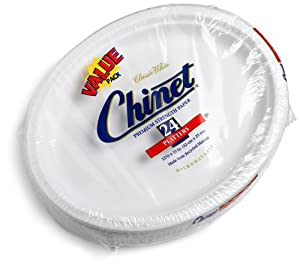 Chinet Premium 10-Inch Paper Platters, 24-Count Packs (Pack of 4) by Chinet