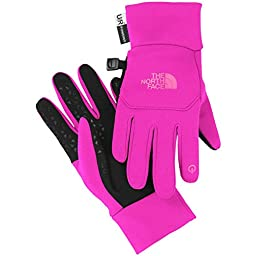 The North Face Youth Etip Glove Luminous Pink/Gem Pink L