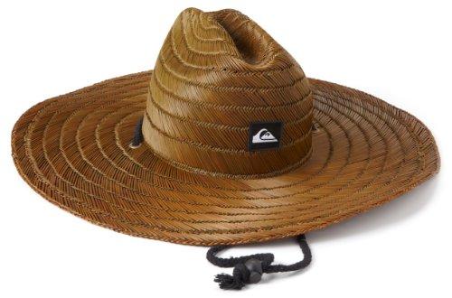78a85448 Quiksilver Men's Pierside Straw Hat,Dark Brown,One Size ~ Straw Hat Mens
