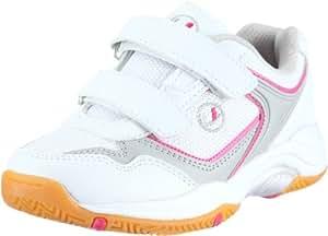 Ultrasport Girl's Indoor Shoe - White/Pink, Size 1
