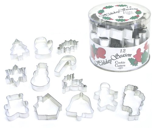 R & M Holiday Classics 12 Piece Cookie Cutter Tub Set