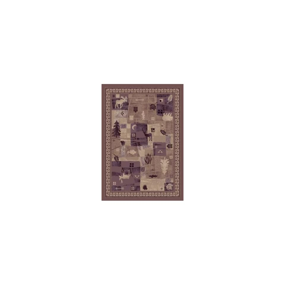 Milliken Signature Deer Trail  Light Amethyst Area Rug 77 Round