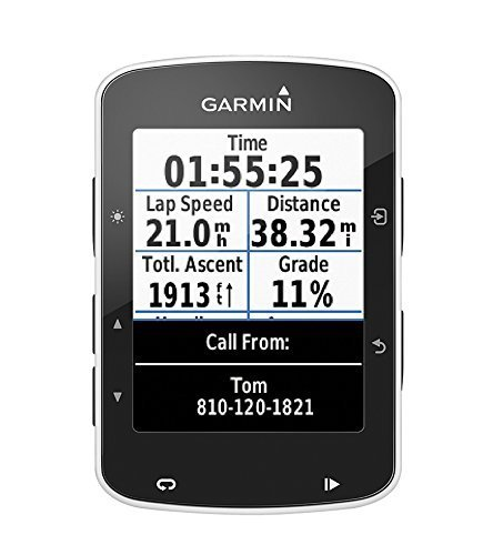 Garmin Edge 520 GPS Bike Computer con Smart Notification, Connessione ANT+, Nero/Bianco