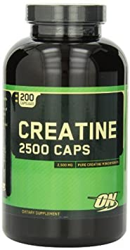 Optimum Nutrition Creatine 2500mg, 200 Capsules by Optimum Nutrition (English Manual)