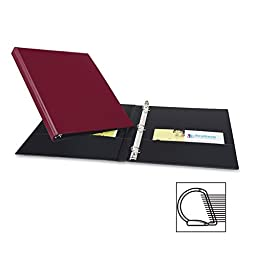 Avery 27052 - Durable EZ-Turn Ring Reference Binder, 11 x 8-1/2, 1/2 Capacity, Burgundy-AVE27052