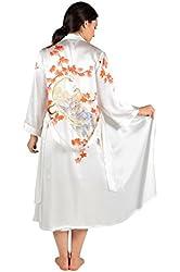 Silk Nightgown Robe Set (Royal Peacocks) Beautiful Gifts by TexereSilk