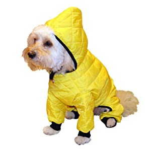 Pedigree Perfection RN101Q-2YEL Weather Master Quilted Rain Suit for Your Dog, 20-Size, Yellow