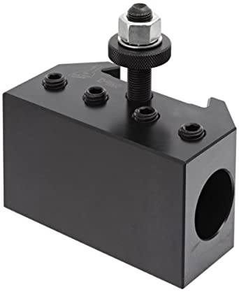 "Dorian Tool QITPN-4-CNC Heavy Duty Chromium Molybdenum Alloy Steel Quick Change Boring Bar Toolholder with CNC Locking System for QITP40N Quadra Indexing Quick Change Tool Post, 1-1/4"" Tool Capacity, 4-1/2"" Width, 2-31/64"" Height"