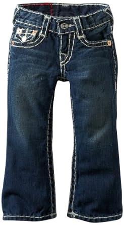 True Religion Little Boys' Billy Super-T Natural 5-Pocket Jean, Dark Vintage, 5