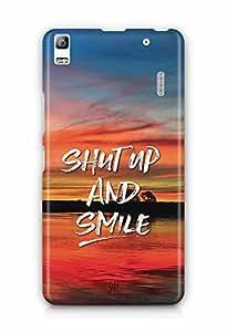 YuBingo Shut Up and Smile Designer Mobile Case Back Cover for Lenovo K3 Note