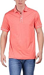EURO OPEN Men's Polyester Tshirt (EEPTS15FS109-SH-S)