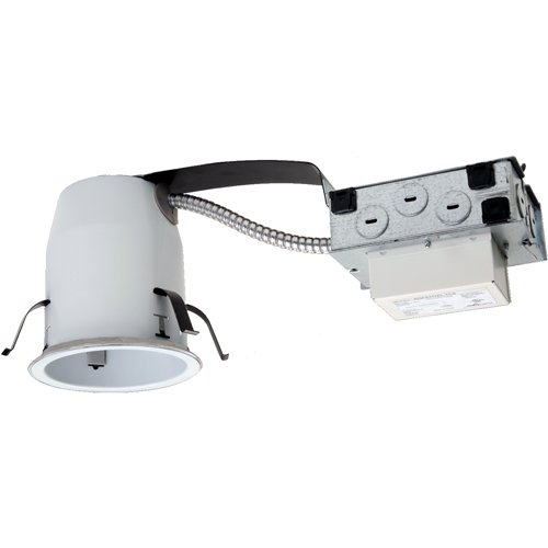 Halo Recessed H455Rtunvd010 120-Volt To 277-Volt 4-Inch Non-Ic Led Housing Remodel With 0-10-Volt Dimmers