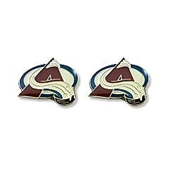 NHL Colorado Avalanche Logo Post Earrings