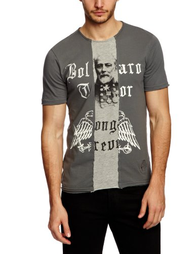 Bolongaro Trevor Sliced Printed Men's T-Shirt Charcoal/Grey Marl Medium