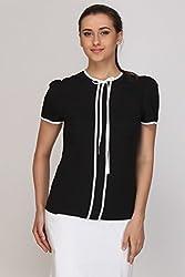 Kaaryah - Black Half Sleeves Top