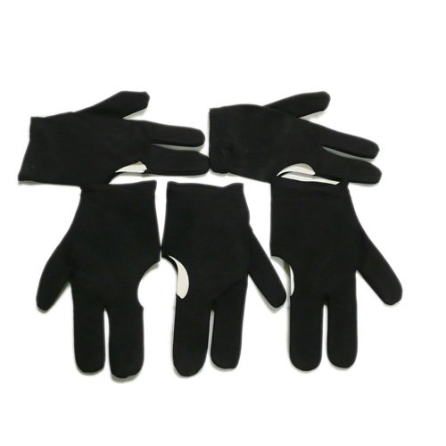Find Discount 5 Black Billiards Pool Snooker Cue Shooters 3 Fingers Gloves