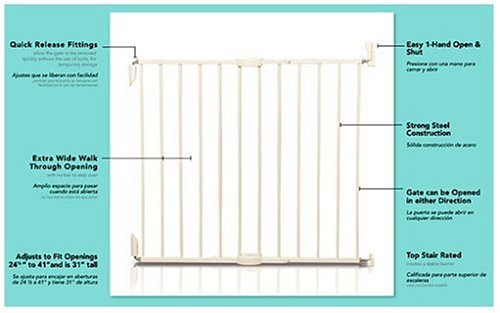 Kolcraft Simple Shut Safety Gate - White