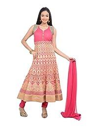 Sareeshut Women's Cotton Regular Fit Anarkali Suits - B00WQYZQX4
