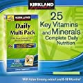 Kirkland Signature Daily Multi Pack, 100 Packettes