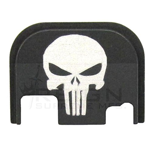 RSM Punisher Rear Slide Cover Plate For GLOCK Gen 1 2 3 4 ALL MODELS 17 19 20 21 23 25 26 27 29 30 31 32 33 34 35 36 9mm 10mm .357 .40 .45 (Glock Slide Plate Cover compare prices)