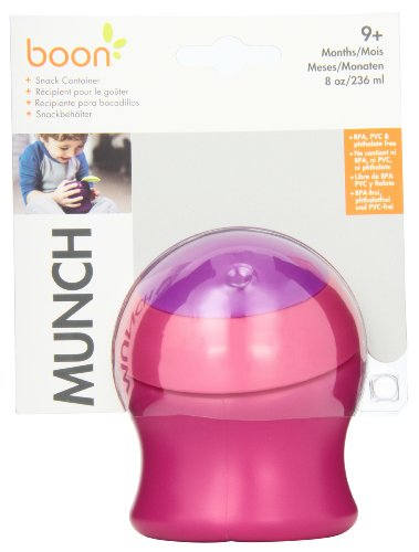 Boon Munch Snack Container,Pink/Purple (Discontinued by Manufacturer)