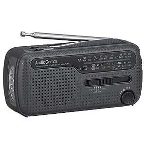 オーム電機 AM/FM/SW手回し発電ラジオライト RAD-V963N