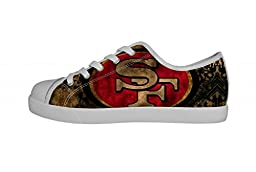 NFL San Francisco 49ers Team Logo Canvas Shoes Lace-up Fashion Sneakers for Boys(Little Kids/Big Kid)-5M US