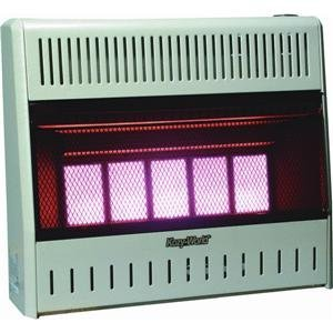 Kozy World KWP324 25,000-BTU Vent-Free LP-Gas Infrared Wall Heater with Thermostat