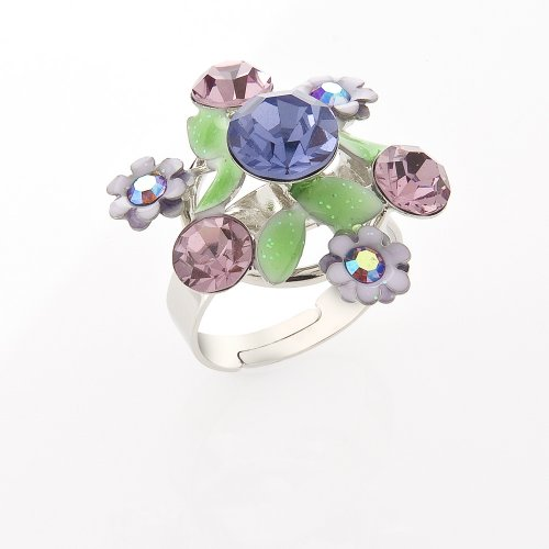 Flower Adjustable Costume Jewellery Fashion Ring