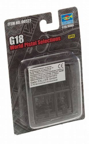 Trumpeter G18 World Pistols, Scale 1/35, 16-Pack