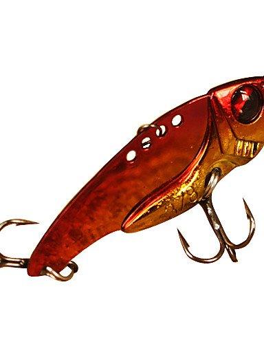 Hard Bait / Vibration/VIB 1 pcs g Ounce mm inch Assorted Colors Metal Sea Fishing / Freshwater Fishing / Bass Fishing