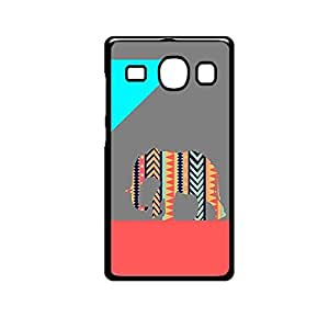 Vibhar printed case back cover for Samsung Galaxy E5 PatternElephantGrey