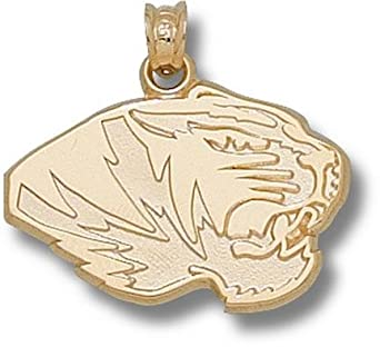 Missouri Tigers New Tiger Head 9 16 Pendant - 14KT Gold Jewelry by Logo Art