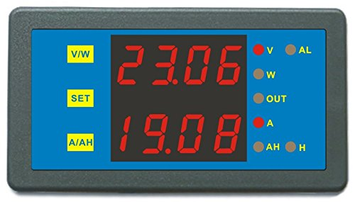 AILI DC 0-90V 0-300A Voltage Current Ampere Hour Meter Battery Monitor Capacity Tester Red LED Display Volmeter Blue (300 Amp Electrical Panel compare prices)