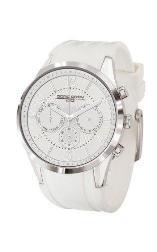 Jorg Gray JG1500-22 - Reloj analógico de cuarzo para mujer, correa de goma color blanco
