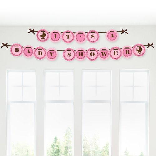 Girl Baby Carriage - Baby Shower Garland Banners front-687737