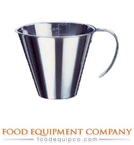 Paderno World Cuisine 6-5/8-Inch Diameter Stackable Stainless Steel Measuring Jug