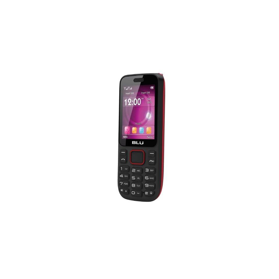 BLU T172T Jenny TV Unlocked Phone   US Warranty   Black/Red