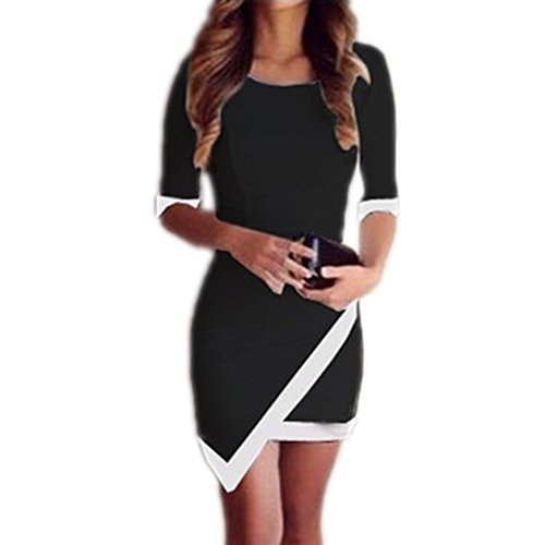 Yonger Irregular Women Sleeve Summer Bandage Bodycon Sexy Evening Party Cocktail Mini Dress