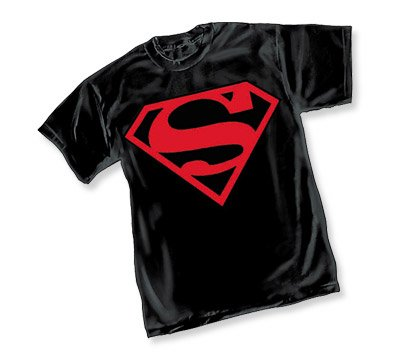 SUPERBOY BLACK CONNOR KENT SUPERMAN SYMBOL T-Shirt