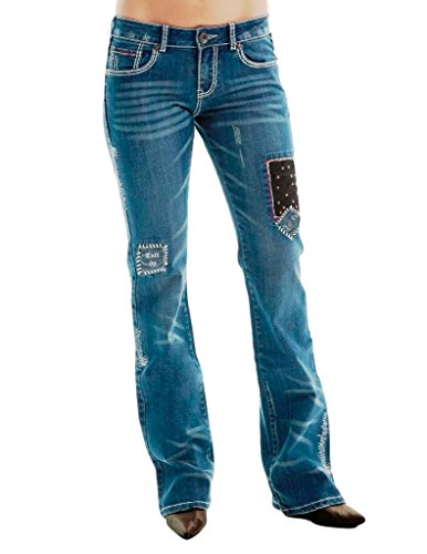 Cowgirl Tuff Jeans Womens Extra Love Strength 25 Long Med Wash Jexlvs