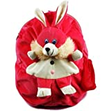 Vpra Mart Rabbit Cute Teddy Soft Toy School Bag For Kids, Travelling Bag, Carry Bag, Picnic Bag, Teddy Bag (Pink)