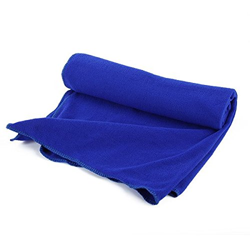 80X140Cm Microfibre Sports Travel Gym Fitness Beach Swim Camping Bath Towel (Blue) front-896911