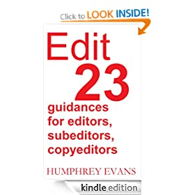 Edit: 23 Guidances for Editors, Subeditors, Copyeditors