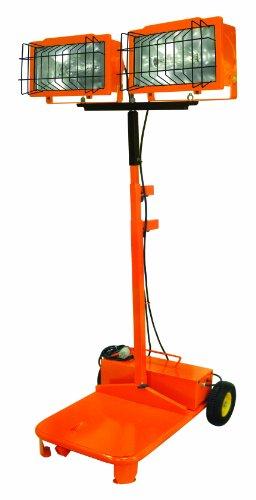 Designers Edge L4211 Telescoping Metal Halide Industrial Work Light, Orange, 2000-Watt