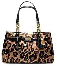 Hot Sale Coach Limited Edition Ocelot Leopard Animal Print Sateen Jayden Satchel Bag Purse Brown