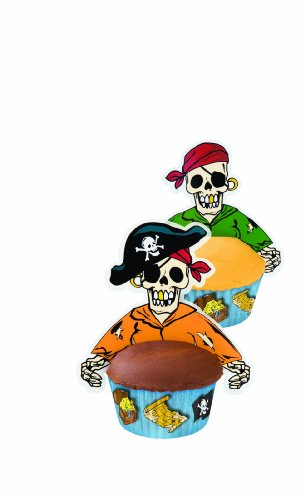 Wilton Pirate Cupcake Hugger Fun Pix, 12 Count